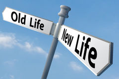 new-life-sign-post-changing-to-way-43391939